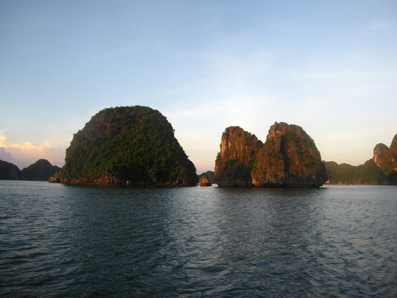 Sunset view over Halong Bay
