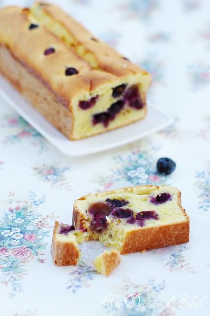 Cake leger ricotta et myrtilles (sans beurre)
