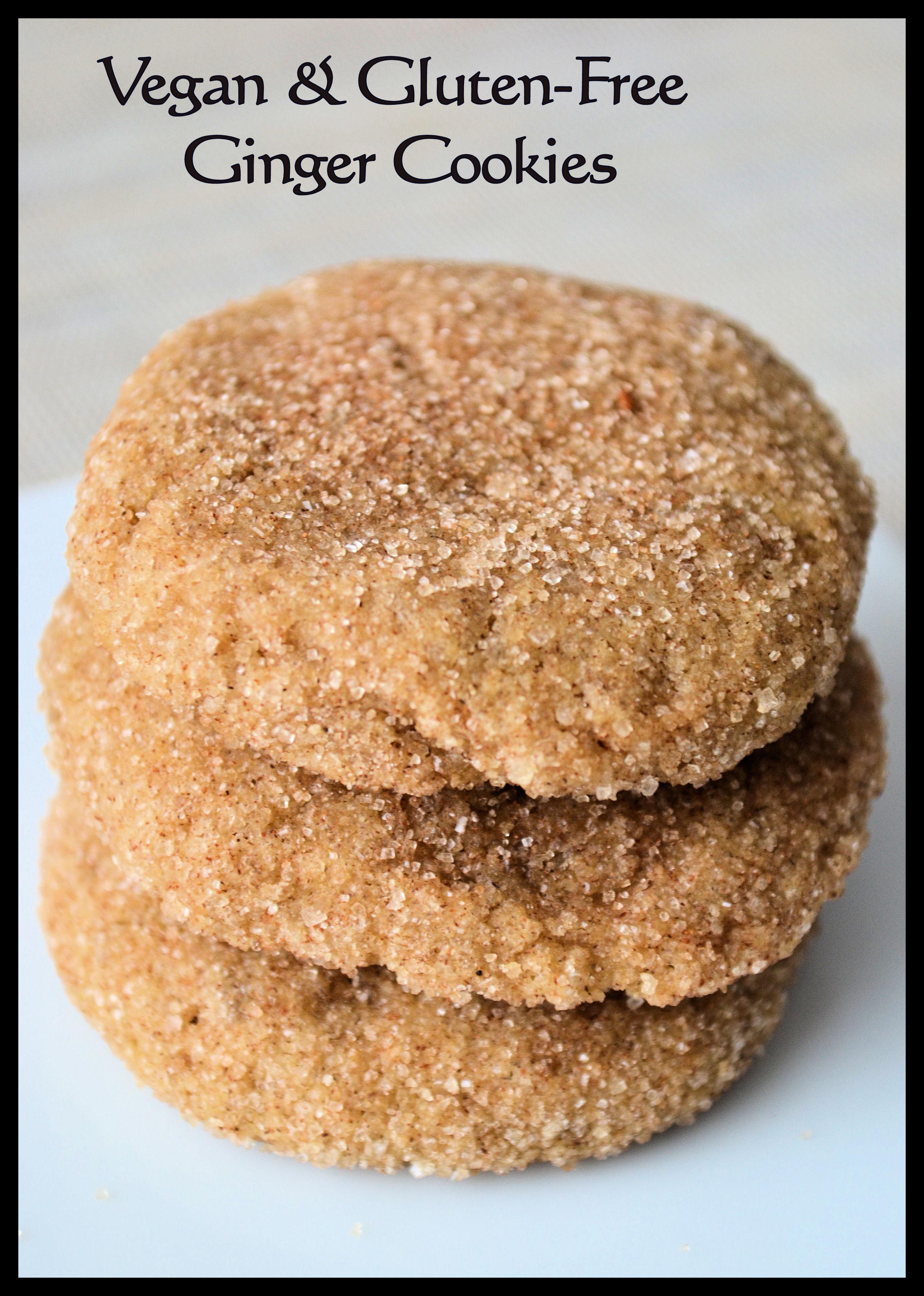 Vegan & Gluten-free Ginger Cookies 1