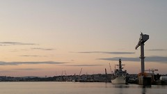 Torpoint Ferry - Sunset (TempusVolat) Tags: cameraphone sunset sea sky water mobile ferry zeiss geotagged nokia nice interesting flickr ship crossing phone mr image harbour crane good 28mm navy picture plymouth like wideangle pb best mobilephone favourites getty keep favourite gw myfavourites gareth liked f28 n8 tempus keeper carlzeiss nseries torpoint morodo nokianseries 12mp nokian8 volat mrmorodo garethwonfor tempusvolat