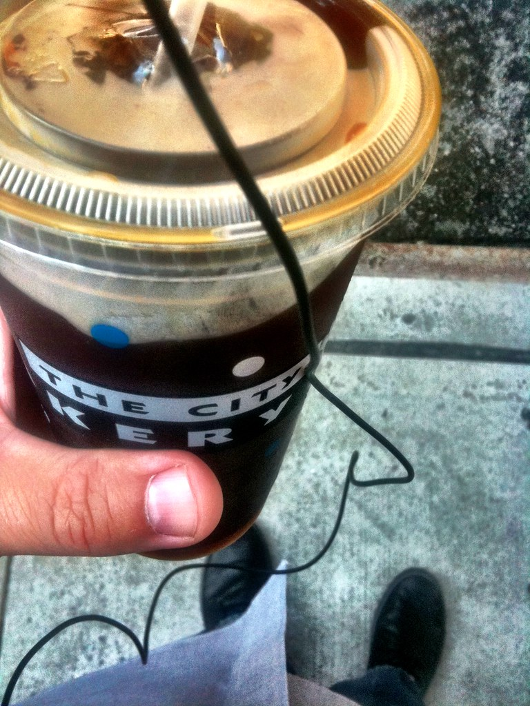 A redeye iced coffee kind of morning #walkingtowork