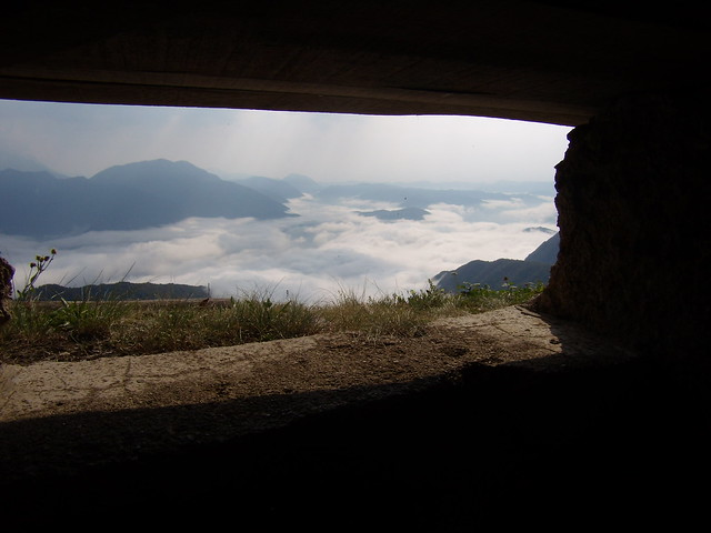 Kolovrat feritoia con vista valle Isonzo