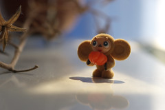 IMG_4622 (Mike Pechyonkin) Tags: orange toy triangle moscow cheburashka   2011