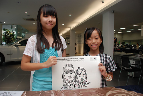 Caricature live sketching for Performance Premium Selection first year anniversary - day 2 - 28
