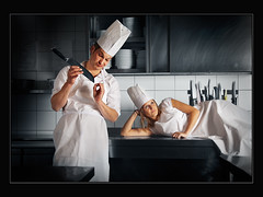 Stressing the Cooks (guenterleitenbauer) Tags: pictures music kitchen canon cuisine austria photo sterreich flickr foto image photos percussion flash picture cook images boring fotos musik bild blitz stress philipp obersterreich bilder thalheim clemens fad koch gnter turnen langeweile wels 2011 wtv kche rhythmus guenter vereinsmeisterschaft perkussion leitenbauer reifeneder wwwleitenbauernet schlagwerk