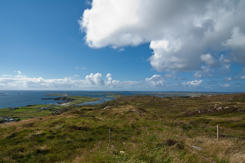 blue sky over Connemara