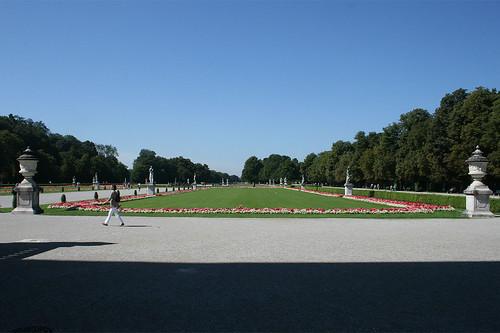 Blick auf das Große Parterre - Schlosspark Nymphenburg