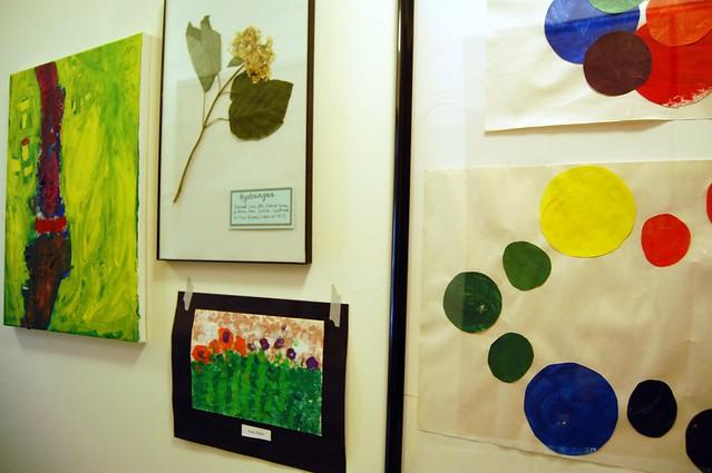 hallway: kids artwork