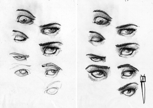 eye sketches-proccess