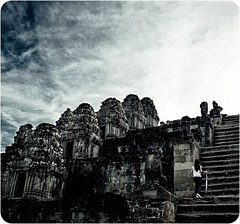 sky is the abode of Gods.. (PNike (Prashanth Naik)) Tags: sky building architecture clouds stairs temple nikon asia cambodia structure climbing staircase thom gods angkor wat abode d7000 pnike
