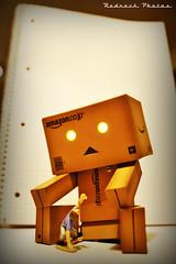 Don't be afraid 14/365 (Redneck Photos) Tags: toy japanese figure 365 scared kaiyodo yotsuba danbo revoltech danboard