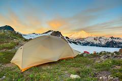 High Life (mj.foto) Tags: camping sunrise landscape washington unitedstates backpacking mountbaker northcascades lakeann bigagnes flycreekul3