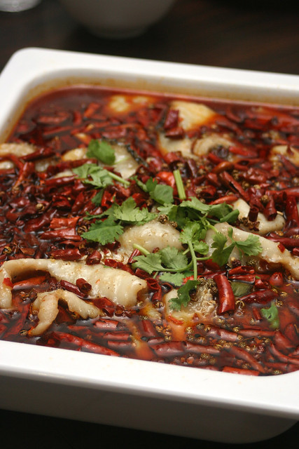水煮鱼 Fish Filets in Hot Chili Oil