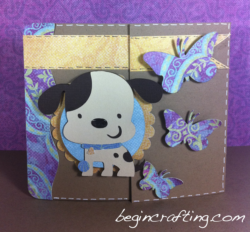 Butterfly Dog Bereavement Card