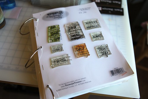 organizing technique tuesday stamps