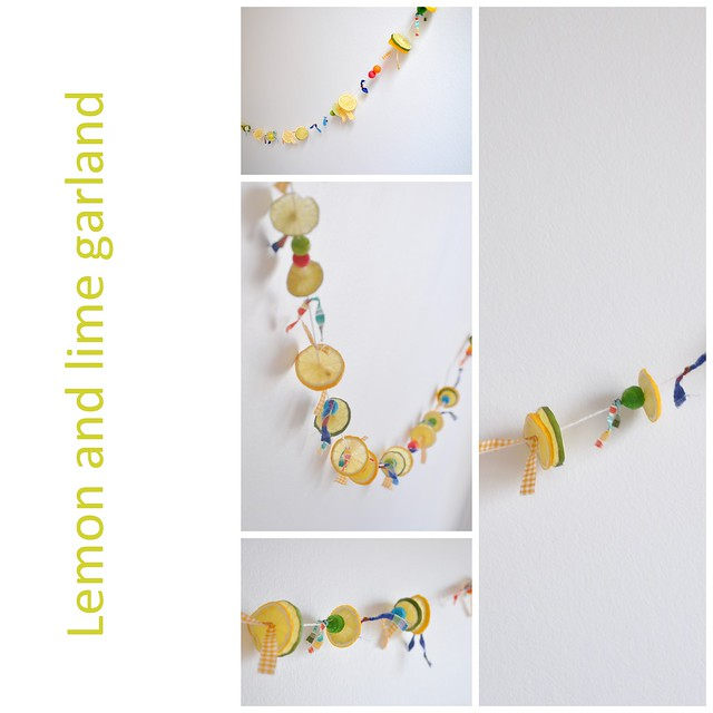 Lemon and lime garland