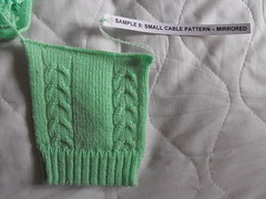 Small cable pattern - mirrored (phil_1987) Tags: reed silver knitting 4 machine course yarn correspondence ply knitmaster
