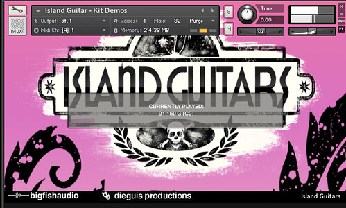 Island Guitars - Demo Window