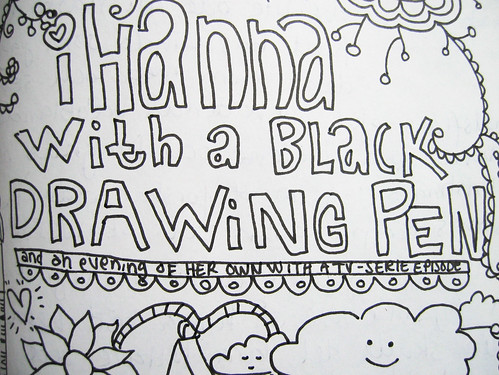 iHanna with a black drawing pen