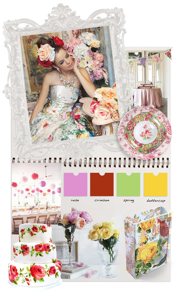in full bloom inspiration board