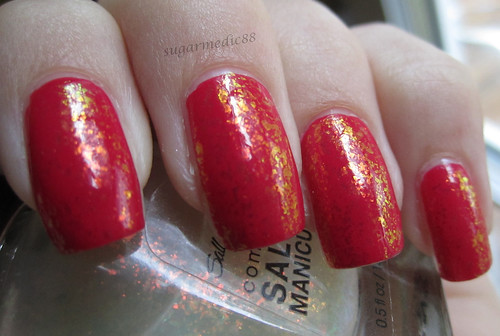 Sally Hansen Hidden Treasure over Revlon Jelly