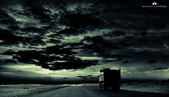The Dark (Abdulaziz ALKaNDaRi | Photographer) Tags: road dark landscape explore ksa khafji abdulazizalkandari