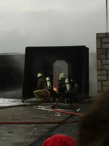 Firefighting training at National Maritime College, Ringaskiddy, Cork. by despod