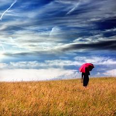 rural idyll ³ (helmet13) Tags: raw she woman redumbrella meadow sky clouds dreamlike latesummer sunlight silence world100f artlibre peaceaward platinumpeaceaward aoi worldpeacehalloffame d300s studies gettyimages 200faves simplicity