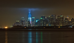 9/11 10th Anniversary Tribute in Light (Shane Woodall) Tags: longexposure newyork brooklyn lights worldtradecenter 911 september wtc tributeinlight 2011 freedomtower canon5dmarkii septenber11th shanewoodallphotography