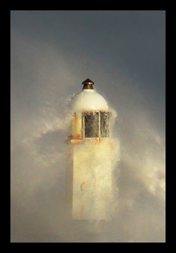 sea sky lighthouse white storm weather southwales coast rocks wind harbour spray foam breakwater porthcawl whitehorses