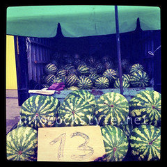 Watermelons at Noginsk Market