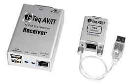 KVP301- Single PC, Single access KVM Extender Kit, includes 1 x KVT101 (USB Transmitter) and 1 x KVR201