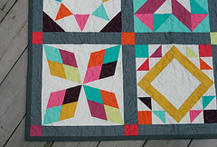 Summer Sampler Series (Fresh Lemons : Faith) Tags: quilt patchwork paperpiecing modernquilt freemotionquilting traditionalquilt patbravo freespiritdesignersolids pureelements summersamplerseries