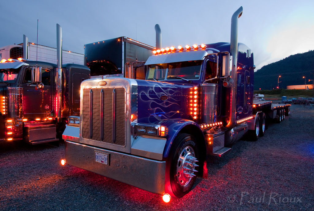 Big Rig Lights : The world s best photos of lights and peterbilt flickr