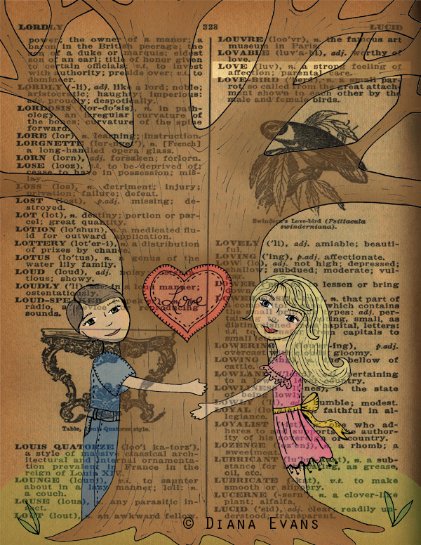 1940 dictionary page love 2
