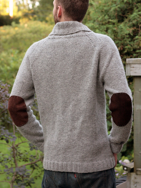 Brownstone Cardigan - elbow patches!