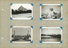 Gpas WWII Photos Africa (9) (brownus) Tags: world africa old 2 sphinx war traditional north egypt cairo ii pyramids 40 1942 1941 benghazi libiya