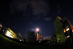 260/365 | Malam bulan dipagar bintang.makin indah jika dipandang. (adzuan aziz) Tags: moon night fisheye tokina malam aziz terang bulan 365days 1017mm adzuan adzuanaziz