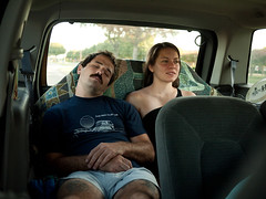 Mark & Michael Ann (BurlapZack) Tags: tattoo sleep roadtrip mustache asleep hurricaneharbor tinyshorts arlingtontx happybirthdaymark asleepintheback panasoniclumixdmcgf1 panasoniclumix20mmf17 boygirlstuff