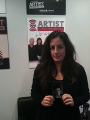 Nicky with her Richard Marx Trading Card