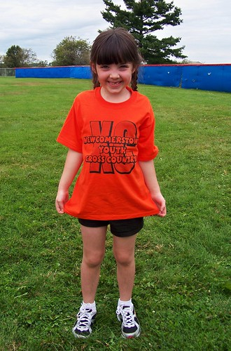 Juila gets ready to run her first cross country race!