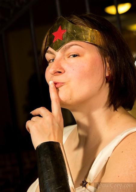 Wonder Woman Says to Shush