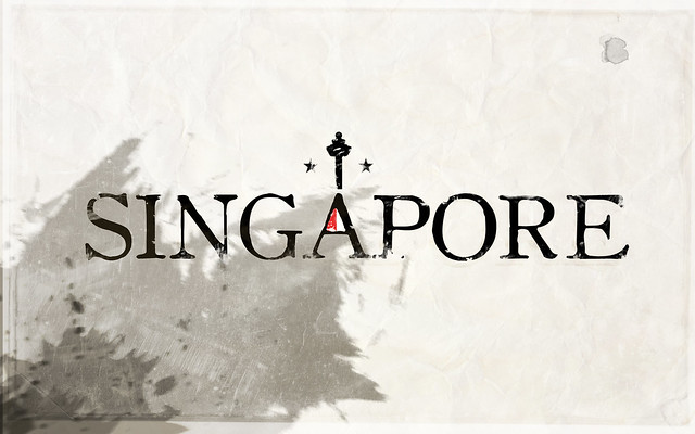 Singapore typographic logotypes