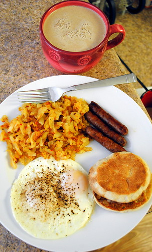 ... Breakfast Sandwich with egg, cheese and sausage | Crazy Jamie's Blog