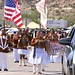 The Navajo Nation Band performs at the 2011 Eastern Navajo Fair Parade. Crownpoint, NM Photo by Jared King / NNWO  This Navajo Nation Washington Office photograph is being made available only for publication by news organizations and/or for personal use printing by the subject(s) of the photograph. The photograph may not be manipulated in any way and may not be used in commercial or political materials, advertisements, emails, products, promotions that in any way suggests approval or endorsement of Navajo Nation President Ben Shelly.