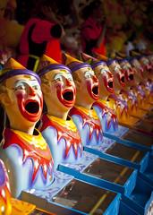 silent laughter (JennWrenn) Tags: laughing brisbane exhibition clowns ekka 2011