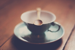 The point to zen (Mathijs Delva) Tags: old cup vintage wooden dof tea bokeh spoon retro 50mmf14