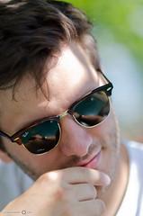 The Sunglasses (andreaskoeberl) Tags: portrait people man face sunglasses reflections nikon dof bokeh zurich depthoffield rayban maleportrait nikon85 85f18 d7000 nikond7000 andreaskoeberl