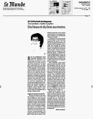 Article du MOnde sur Anne Lataillade