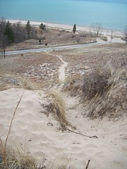 Kemil Beach Trail - Summit - Road (Zoesdare) Tags: statepark sky nature clouds sand dunes indiana lakemichigan kemilbeach dunesnationallakeshore